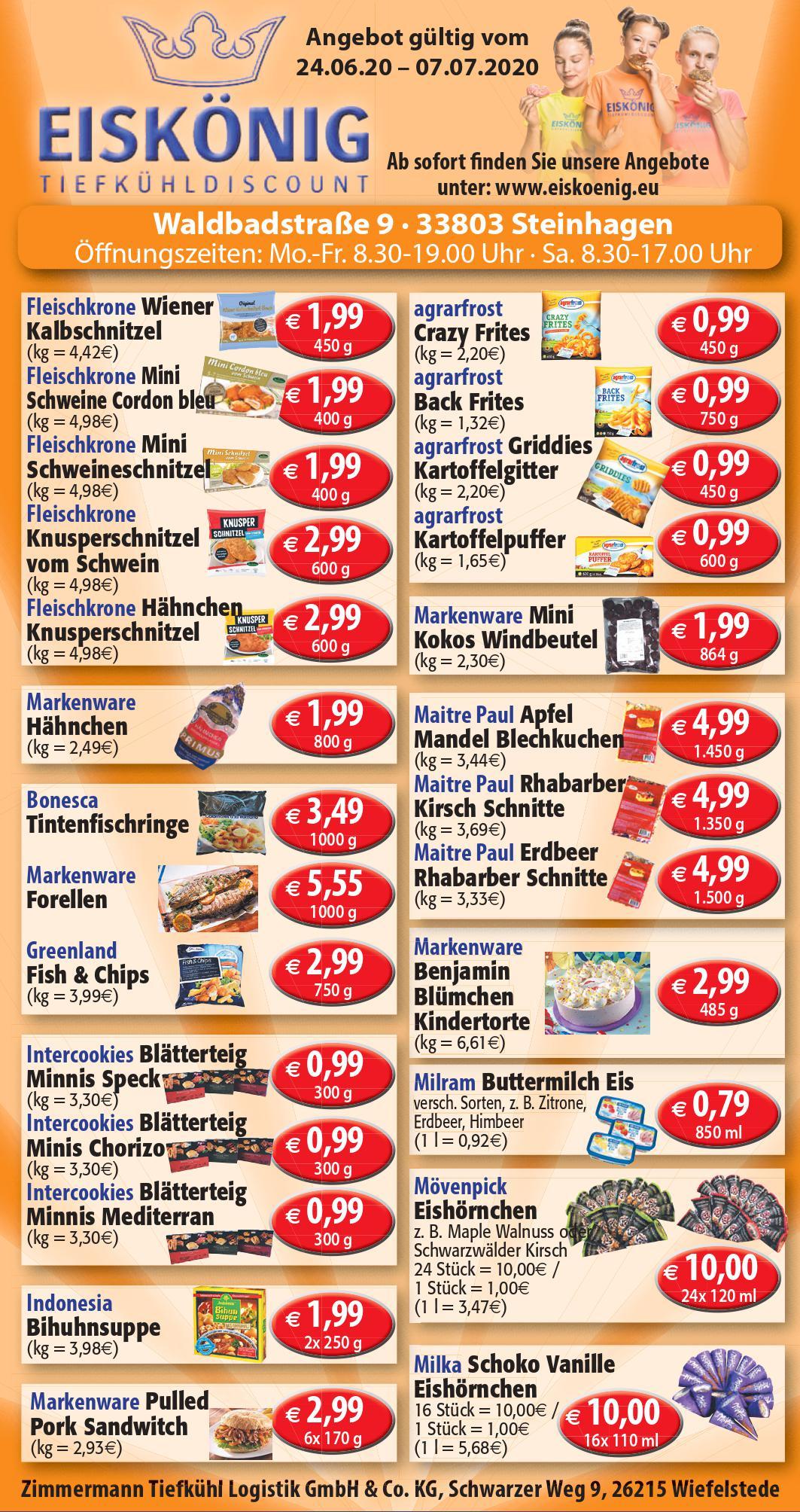 Angebote Eiskönig Tiefkühldiscount Steinhagen