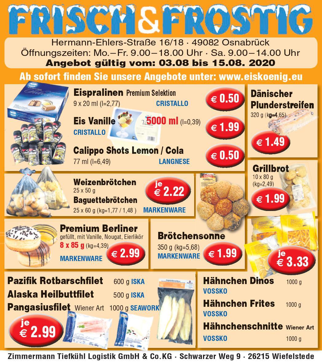 Angebote Eiskönig - Frisch und Frostig Osnabrück