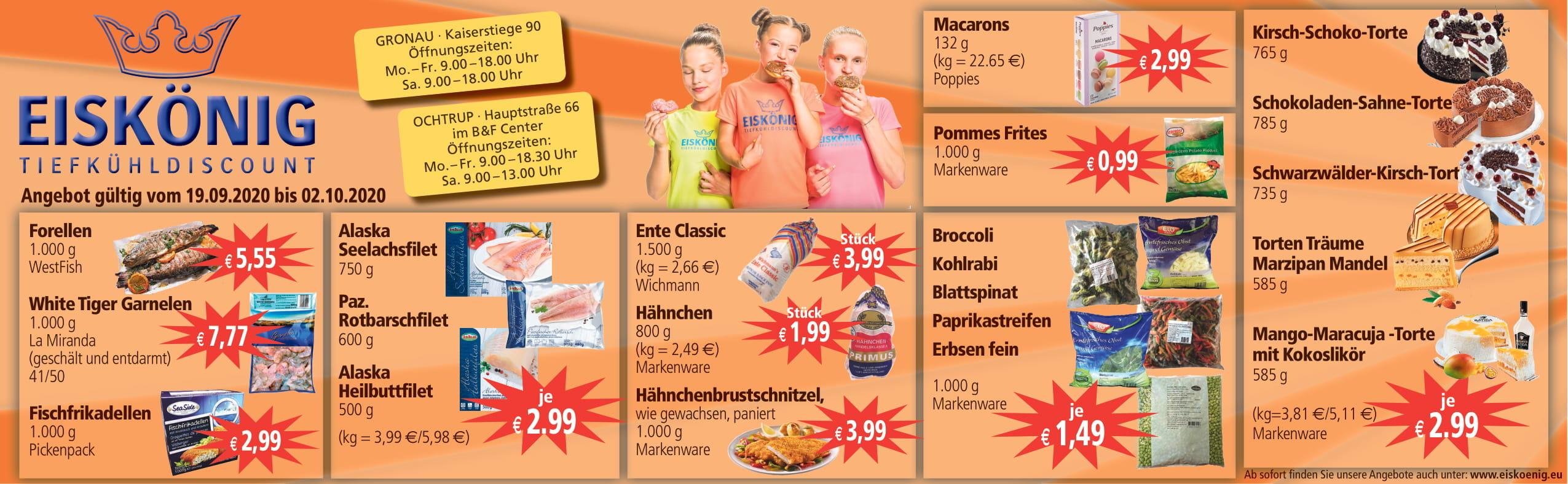 Angebote Eiskönig Gronau und Ochtrup